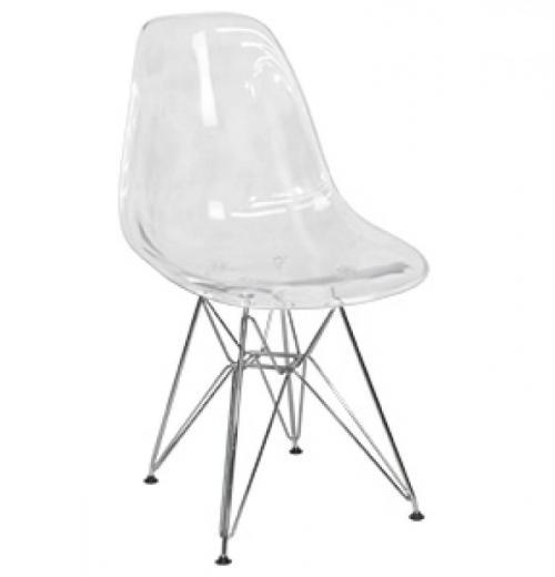 Cadeira DKR de Acrílico, Cromada
