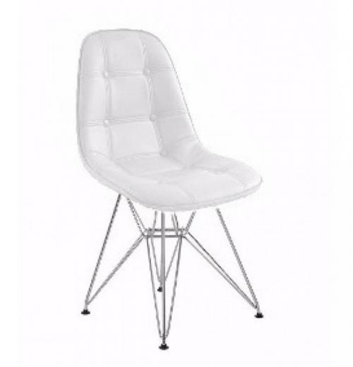 Cadeira DKR de Polipropileno com Base Cromada