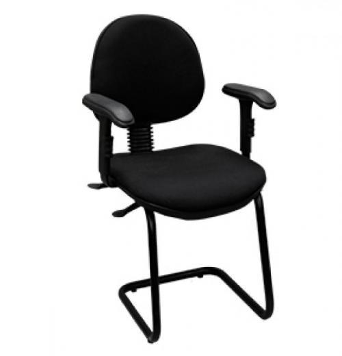 Cadeira Fixa Estofada Executiva c/ Bra.