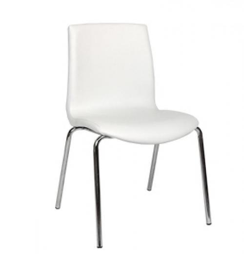 Cadeira Flex Estofada, Cromada