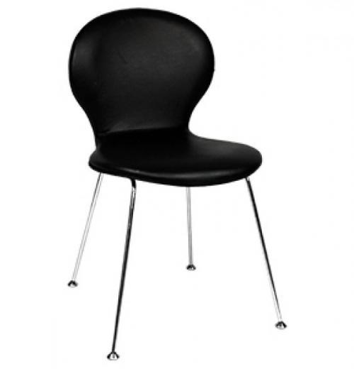 Cadeira Globe Estofada, Cromada