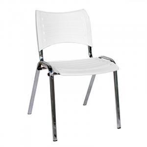 Cadeira Iso de Polioproleno, Cromada