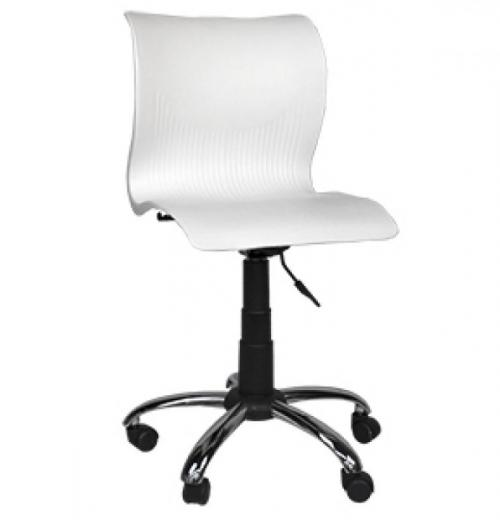 Cadeira Italiana Giratória de Poliopropileno, Cromada