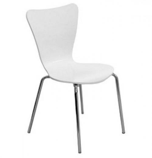 Cadeira Jacobsen de Madeira, Cromada