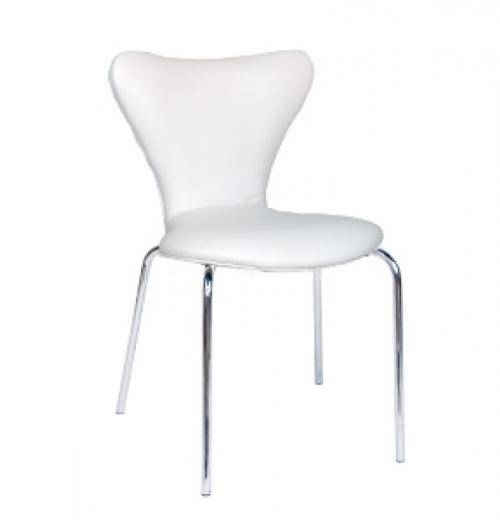 Cadeira Jacobsen Estofada, Cromada