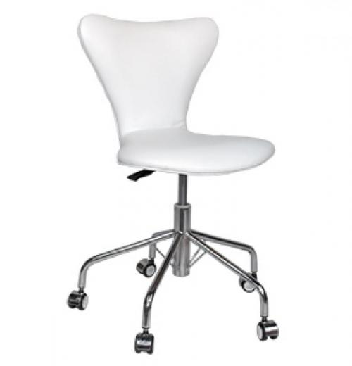 Cadeira Jacobsen Giratória Estofada, Cromada
