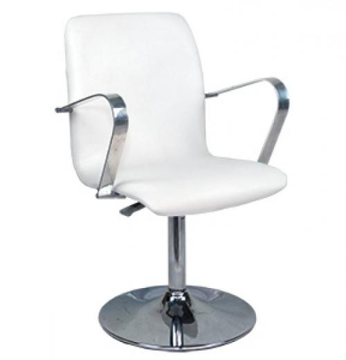 Cadeira Leed Giratória c/ Base Fixa, Cromada