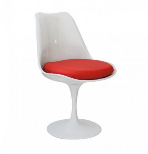Cadeira Saarinen com Base de Alumínio e Assento Estofado